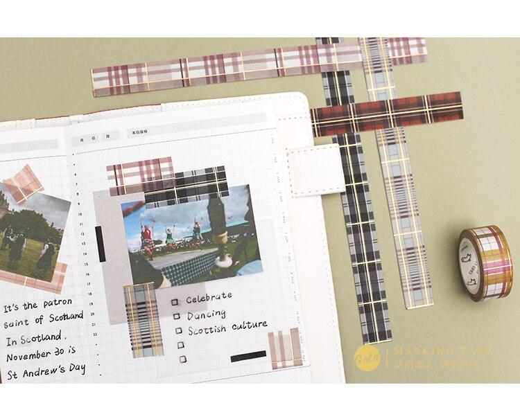 8 PCS/LOT scotland lattice series decoration paper masking tape washi tape