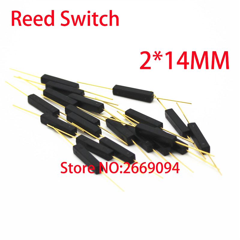 5pcs /50pcs /100pcs Plastic Type Reed Switch 2 * 14mm Normally Open Magnetic Control Switch Gps-14a Anti-vibration/damage 2x14mm