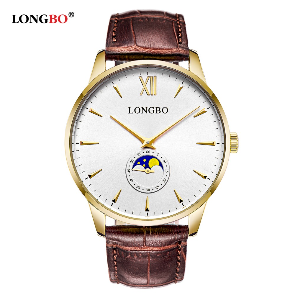Fashion Men Women Watch Leather Strap  Quartz watch Lovers Couple Simple Clock Wristwatch Relogio Feminino Masculino LONGBO New makita pf0300