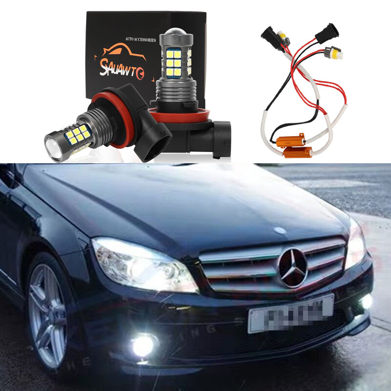 2X 9006 HB4 H11 LED Fog Light Bulb Auto Car Driving Lamp Bulbs For Mercedes Benz