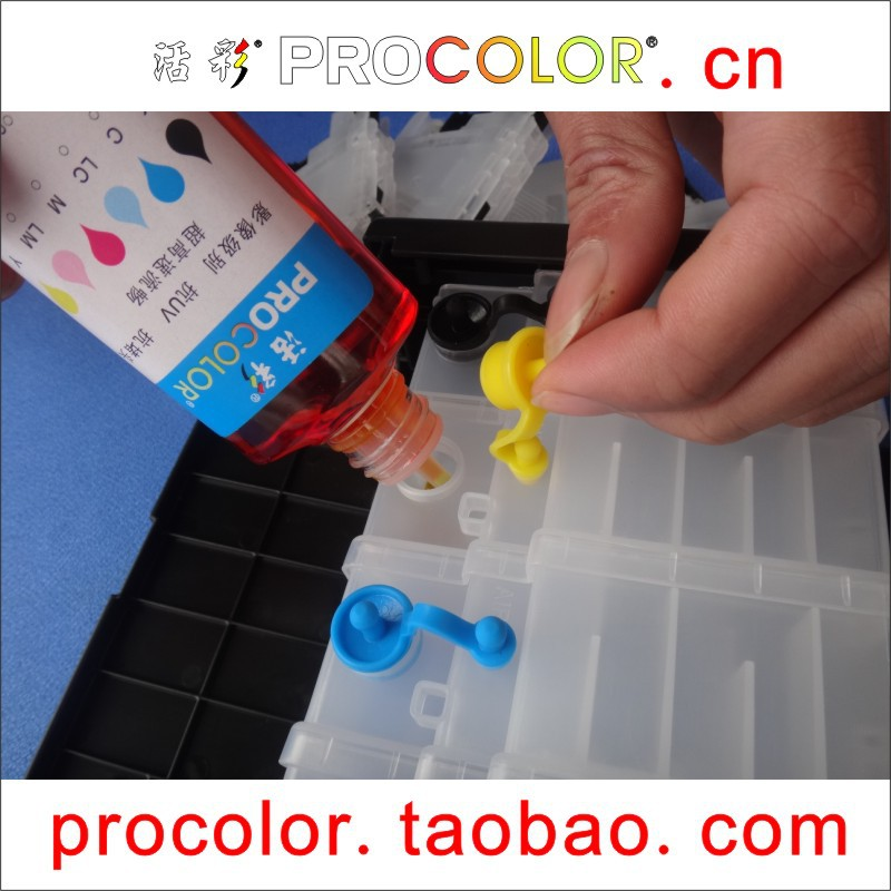 PROCOLOR 200i T200XL CISS ink Refill kit Dye ink special for <font><b>EPSON</b></font> <font><b>XP</b></font>-<font><b>400</b></font> XP400 <font><b>XP</b></font> <font><b>400</b></font> 410 <font><b>XP</b></font>-410 XP410 WF-2510 WF2510 WF 2510 image