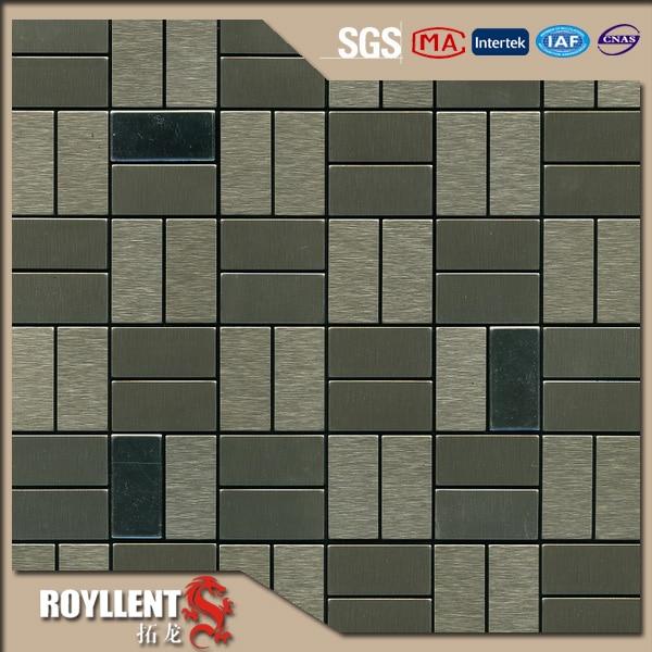Genial Royllent Acp Mosaic Grey Cheap Parquet Interior Design Adhesive Metal  Kitchen Backsplash Tile Wall Sticker Building