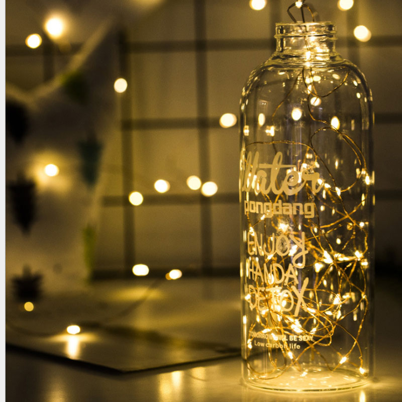 2M 20 LED Copper Wire Fairy Garland Lamp LED String Lights Christmas Wedding Home Party Decoration Powered By CR2032 Battery novelty cherry blossom 2m 20 led flower string light fairy lights led lamp with aa battery wedding party garland tree decoration