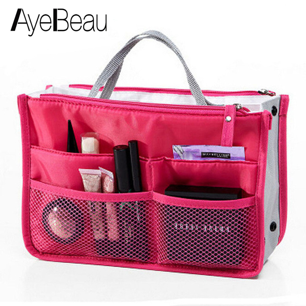Toilet Make Up Makeup Cosmetic Bag Purse Organizer Beauty Necessaries Necessaire For Women Vanity Toiletry Kit Travel Case Pouch