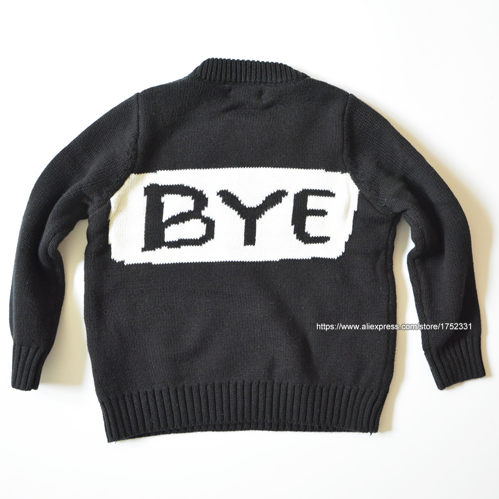 QUIKGROW-Thick-Warm-Black-White-Hello-Bye-Long-Sleeve-Crew-Neck-Baby-Girl-Sweater-Infantil-Boy-Pullover-Jumpers-YM06MY-3
