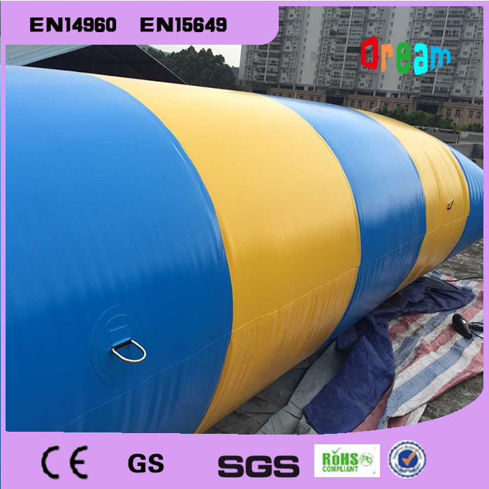 Free Shipping 5*2m 0.9mm PVC Inflatable Trampoline Water Pillo Water Blob Jump Inflatable Jumping Jump Bed On Water 4m 0 65m inflatable water jumping trampoline free air pump inflatable bounce bed for sale