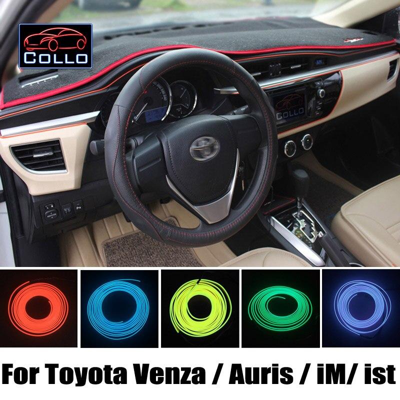 Car-Styling 9 Color EL Wire / For Toyota Venza / Auris / iM / ist / Urban Cruiser / Car Interior Romantic Atmosphere Lamp / 9M