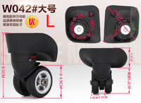 Trolley Case Parts Aircraft Caster Wheels Travel Luggage Accessories Suitcase Replacement Luggage Spinner Wheels W042BL