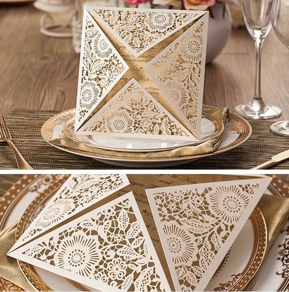 2016 Hochzeitskarten Einladung 3d Kundenspezifische Elegante Einfach