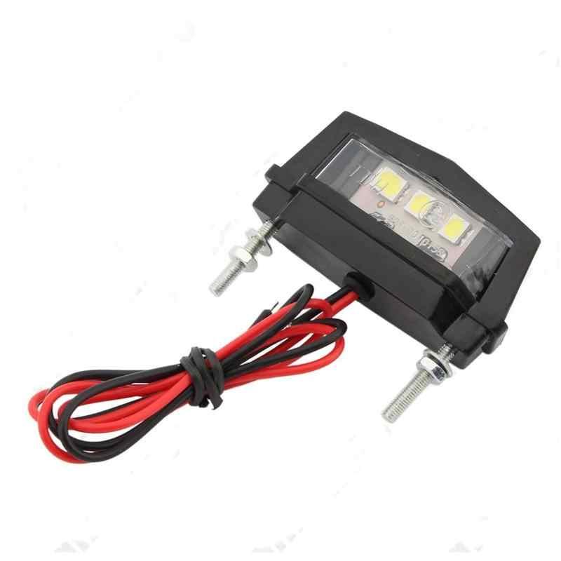 Moto queue arrière LED plaque d'immatriculation lampe ampoule lumières pour YAMAHA YZF R15 XT660 X R Z TMAX 500 530 TMAX500 530