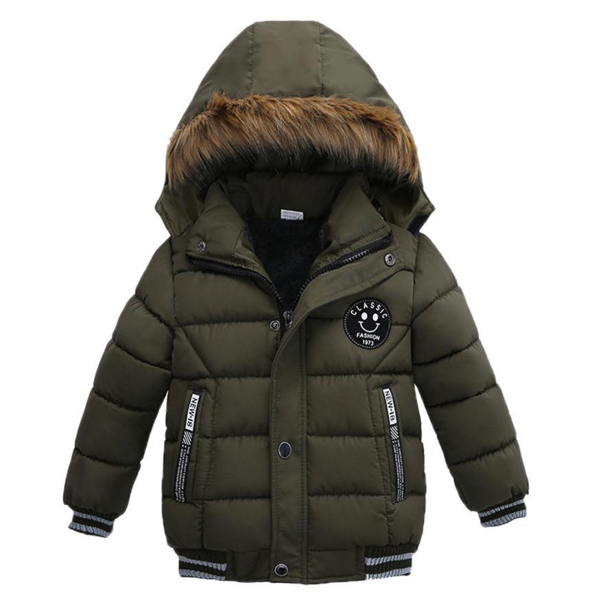 BMF TELOTUNY Casual Cotton Boys Clothing Fashion Kids Coat Boys Girls Thick Coat Padded Winter Jacket Clothes Junl9