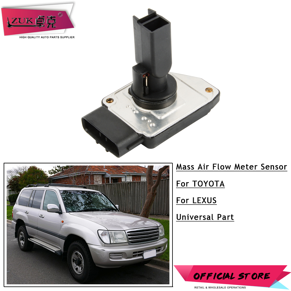 ZUK Mass Air Flow Meter MAF Sensor For Toyota LAND CRUISER 100 HILUX 4RUNNER TUNDRA SEQUOIQ For LEXUS LX470 GX470 22204-75020