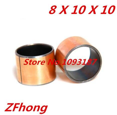 Buy SF-1  8*10 Self Lubricating Composite Bearing Bushing Sleeve length 10mm