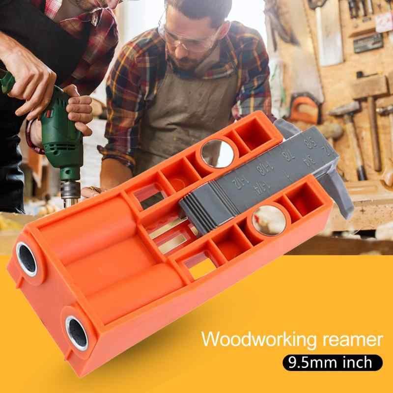 Ensemble de Guide de forage de localisateur de trou Oblique pour le travail du bois Kit de gabarit de trou de poche ensemble de Guide de forage localisateur de perforateur avec raccords de localisateur de trou