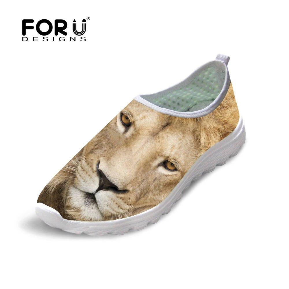 Cool animal Lion Owl impresión casual Zapatos hombres de la moda Otoño  verano ocio caminar masculino malla Zapatos plana suave transpirable sapatos bb7cf1a08933