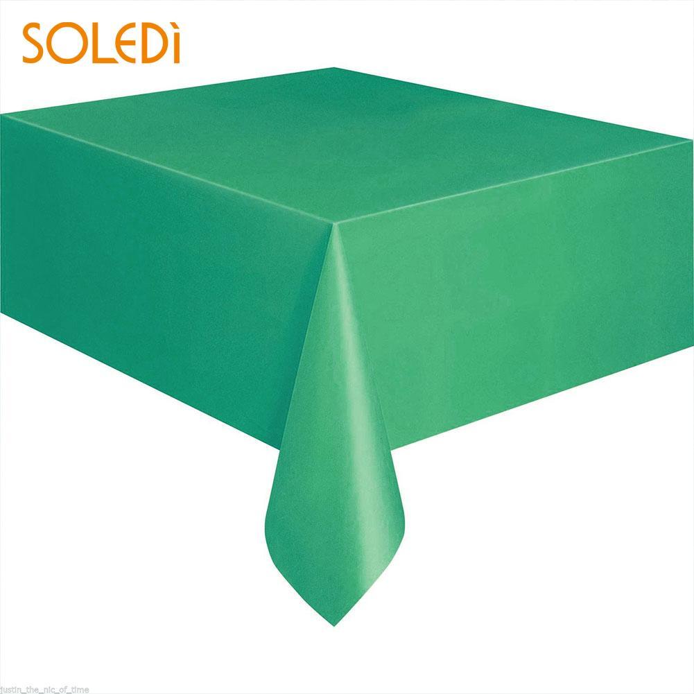 SOLEDI 20 цветов мягкий настольный бегун скатерть пластиковые товары для дома одноразовая скатерть для стола украшение стола - Цвет: dark green