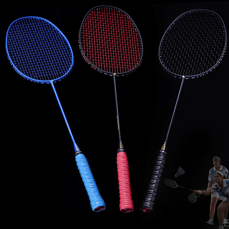 Newly Graphite Single Badminton Racquet Professional Carbon Fiber Badminton Racket With Carrying Bag 19ing
