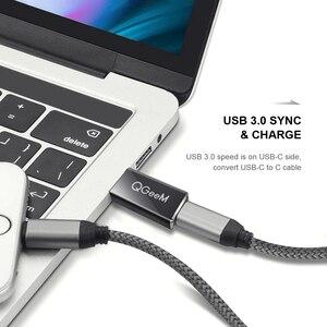 Image 2 - QGeeM USB 3.1 Tipo C Hembra al Varón DEL USB 3.0 Puerto adaptador de Tipo A Conector de Adaptador de Conector de Sincronización de Datos de 10 Gbps para Macbook Google