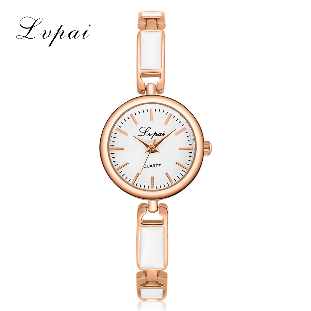 LVPAI Brand Women Bracelet Watch China Alloy Quartz Wristwatches Women Dress Watches Fashion Casual Luxury Watch  Clock