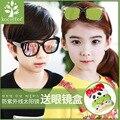 Versão do the new crianças resina personalidade fashion grande caixa de óculos de sol das crianças óculos de sol por atacado uv400 óculos de sol