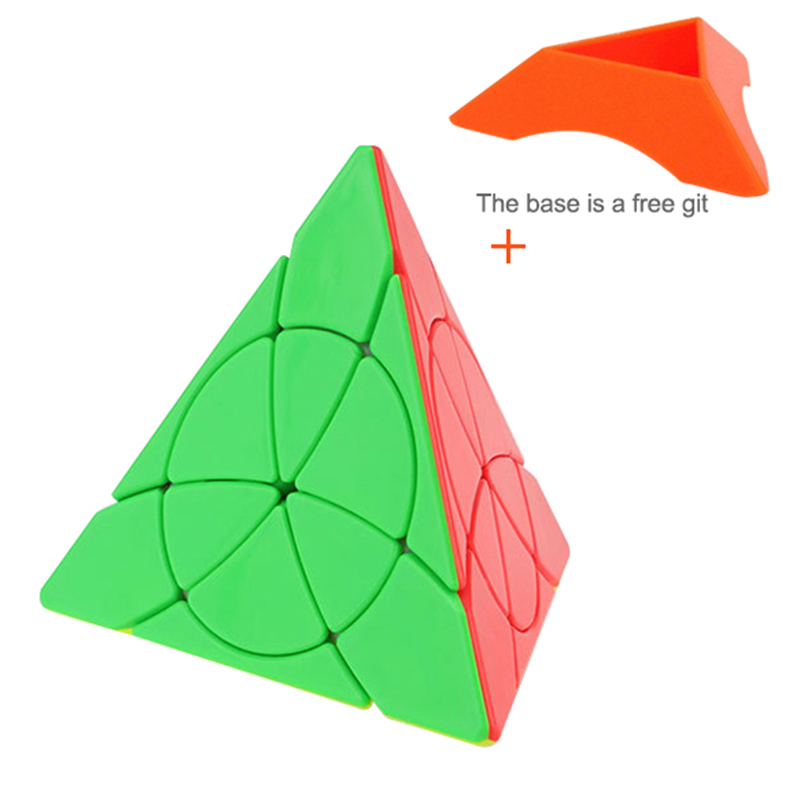 YJ Neo Cube YongJun Petal Pyramid Leaf Magic Cubes Stickerless Pyraminx Cubo Magic Speed Puzzle Cube Fidget Toys Spinner
