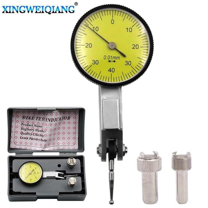 Preciso Dial Medidor Indicador de Teste de Precisão Métrica com Trilhos Cauda de Andorinha Montar 0-4 0.01 milímetros Instrumento De Medição Ferramenta
