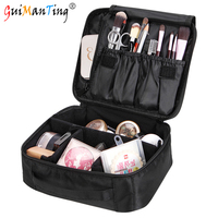 Women High Capacity Professional Makeup Bag Travel Portable Cosmetic Box Storage Case Ladies Large Capacity Suitcase