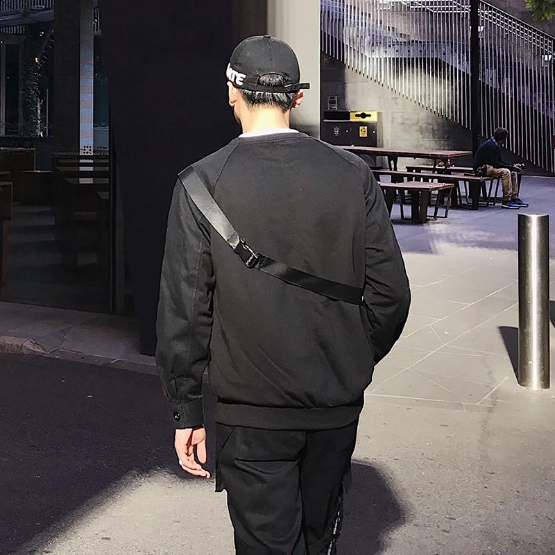Langarm männer pullover 2018 frühling neue Koreanische version der hübscher falschen brust tasche abdeckung kopf runde kragen T shirt - 3