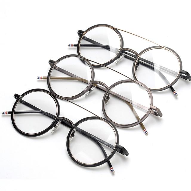c0a6a140ff02c TB108 armações redondas do vintage unisex óculos frames óculos de prescrição  para as mulheres homens com