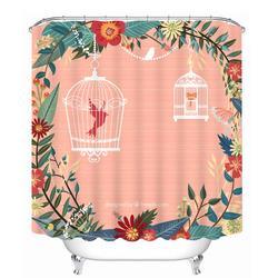 3D занавеска для душа мультяшный узор полиэстер ткань водостойкая занавеска для душа Экологичная ванная занавеска для дома