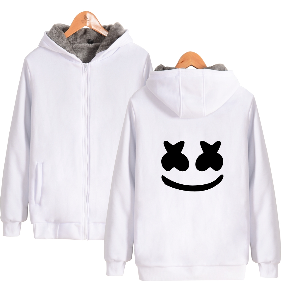Marshmello Hoodies Autumn winter New brand men Casual Hoodies Sweatshirt Thick Zipper Me ...