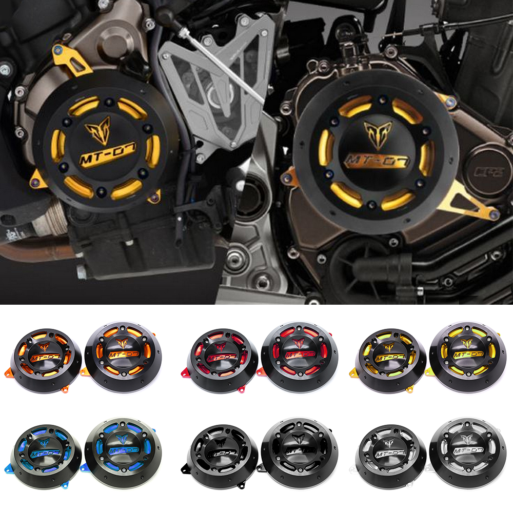 Motorcycle CNC Aluminum Alloy Engine Stator Case Guard Cover Protector For YAMAHA MT-07 MT07 MT 07 FZ-07 FZ 07 2014 2015-2017 for yamaha mt07 fz07 mt 07 fz 07 2014 2015 2016 motorcycle accessories cnc aluminum adjustable gear shift lever shifter pedal