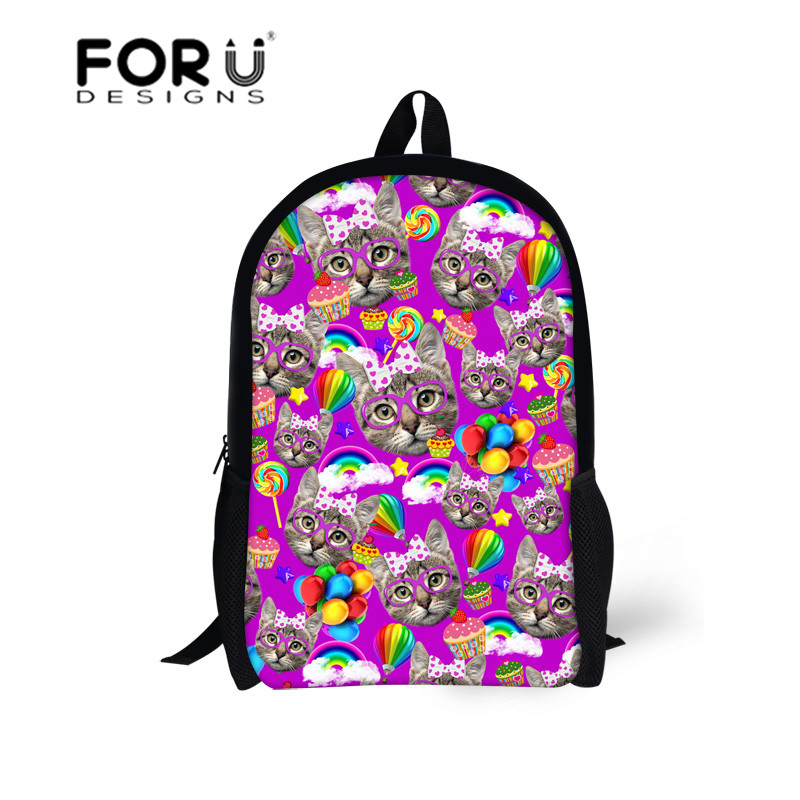 17-inch Cat/Animal Kids Backpacks Children School Bags for Kids Girls Book Bags,Stylish Schoolbag for Teenager Mochila Wholesale