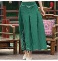 Vintage 70 s projeto de longo verde escuro azul vermelho a linha midi saia mulheres saias longuette méxico estilo étnico longo sólida
