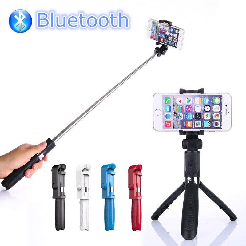 FGHGF 2017 Trépied Manfrotto Selfie Bâton Bluetooth Avec Bouton Pau De Palo selfie bâton pour iphone 6 7 8 plus Android bâton