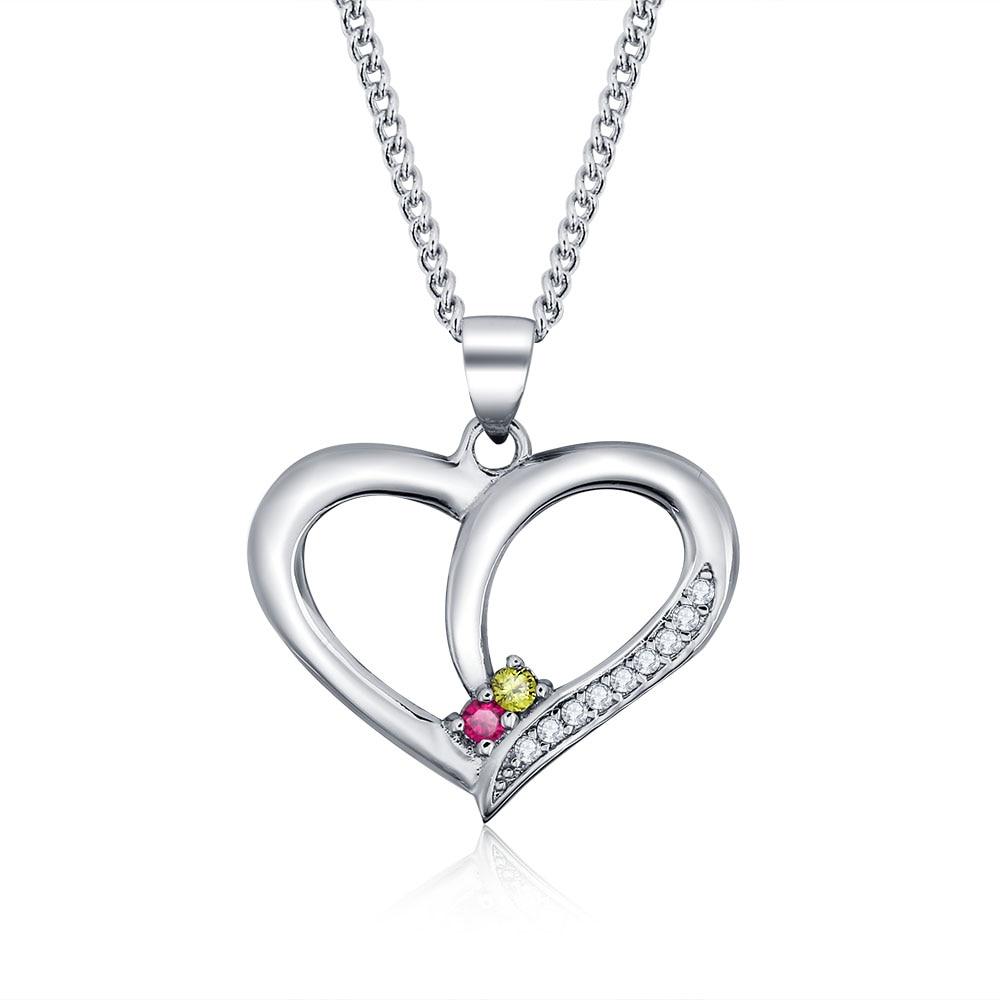 Personalisierte Halsketten 925 Sterling Silber Herzform Anhänger - Edlen Schmuck - Foto 1