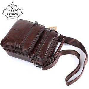Image 4 - ZZNICK 2017 Men Bags Ipad Handbags Sheepskin Leather Male Messenger Purse Man Crossbody Shoulder Bag Mens Travel Bags  8101