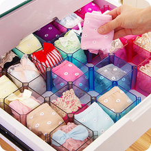 6pc/set  Plastic Honeycomb DIY free combination drawer underwear Bra Ties Socks Lingerie Cabinets Closet storage box organizer