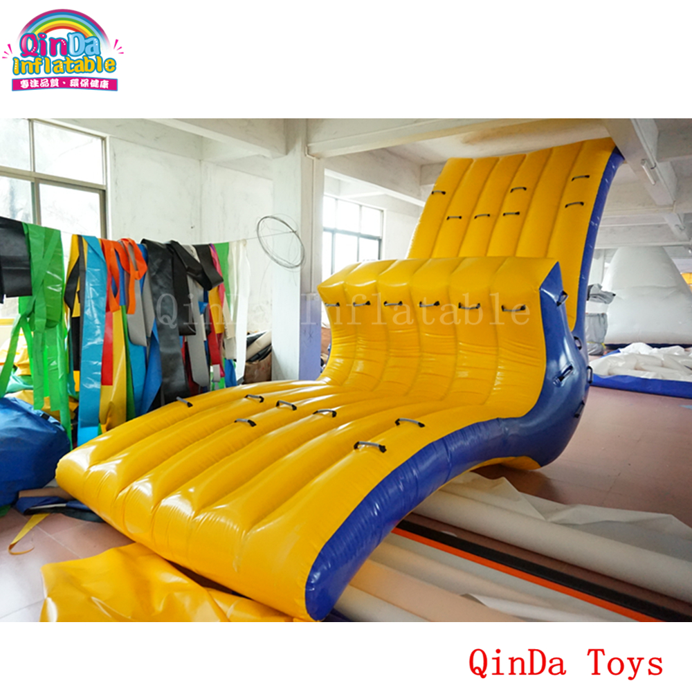 6m long inflatable water park seesaw ,big size water toys floating water totter for kids and adults funny summer inflatable water games inflatable bounce water slide with stairs and blowers