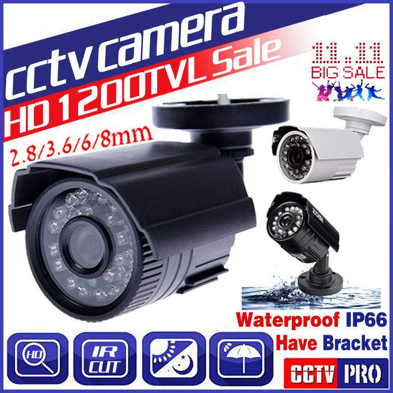 Welt Tasse BigSale Echt 1200TVL HD Mini Cctv Kamera Im Freien Wasserdichte IP66 24Led Nachtsicht Analog überwachung sicherheit Vidicon