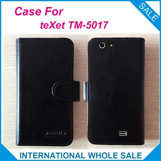 Chaud! 2017 pour étui à TM-5017 teXet, 6 couleurs haute qualité Flip complet personnaliser cuir couverture Exclusive téléphone sac suivi
