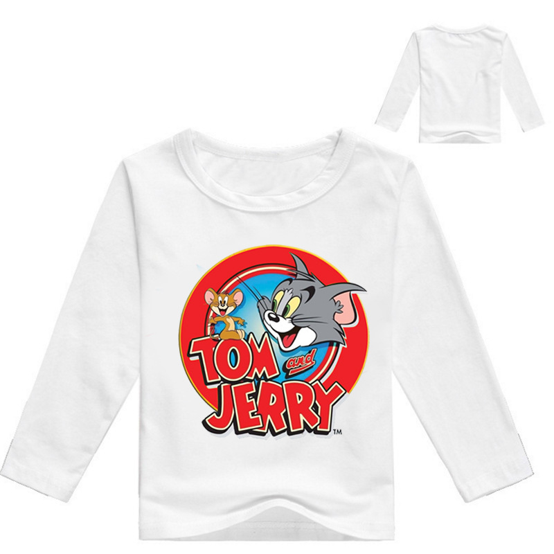 Z&Y 3-16Years tom and jerry clothes baby boy shirts children t-shirts for girls long sleeves tops tees teenage boys clothing