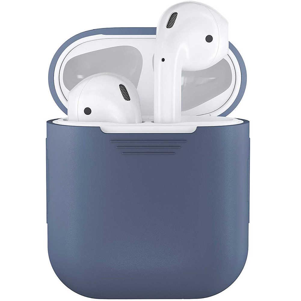 耐震ソフトシリコンプロテクターケースカバーシールド apple のため AirPods イヤホンファッションポータブル保護ケース