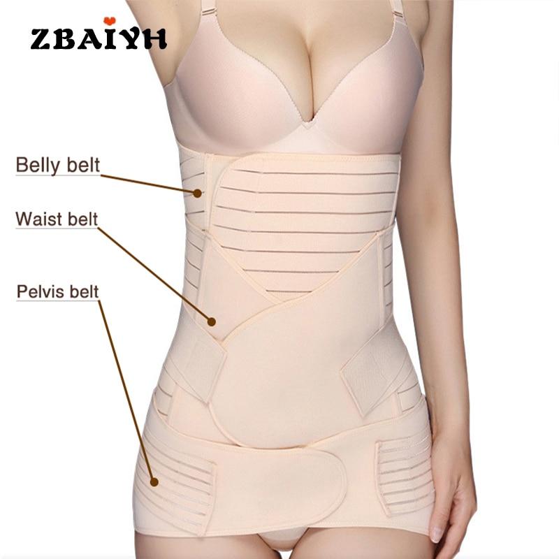 Maternity Bondage Postpartum Belly Belt Recovery/Abdomen/Pelvis Shapewear Breathable Pregnancy Women Underwear Body Slim Corset zipper shapewear corset