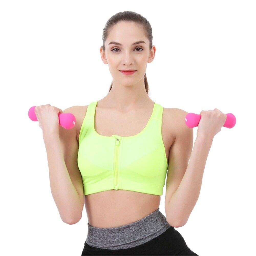 Crossfit femmes 1 kg haltère équipement de Fitness poids cloche muette minceur musculation exercice haltère poids à la main