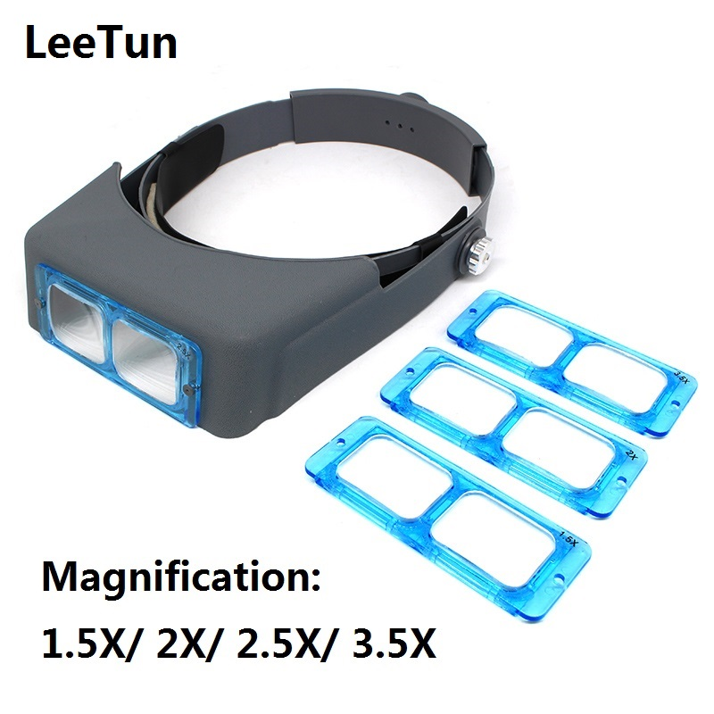 Optivisor Head Wearing Magnifier Magnifying Glass Eye Loupe Headset Watchmaker Repair Magnifying Glasses Headband Magnifier цена