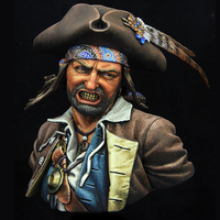 1/9 bust model bust resin Movie role Pirates high 200MM Unpainted Unassembled model kit Free shipping X103