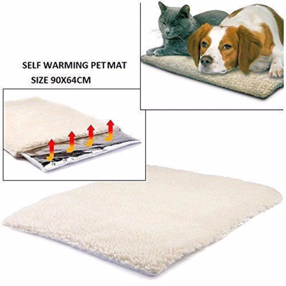 Dog Pet Mat Bed Pad Self Heating Soft Warm Cat Rug Thermal Size XS-XL New US