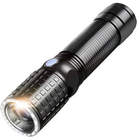 YAGE 341C T6 2000LM Aluminum Zoom CREE LED Flashlight Two LED Lamp 6 Modes USB Torch