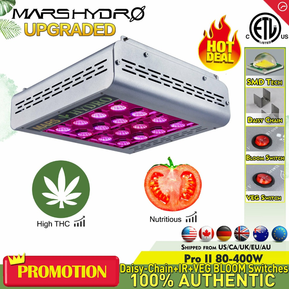 Mars ProII Epistar 400 W Cresce A Luz LED Full Spectrum Hidroponia Com Efeito de Estufa 166 W Veg Bloom Switches